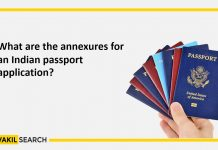 What are the annexures for an Indian passport application
