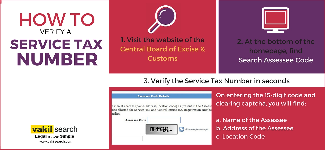 How to Verify a Service Tax Number - Vakilsearch