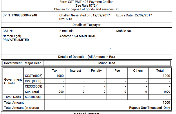 GST Payment Challan: How to Make GST Payments - Vakilsearch