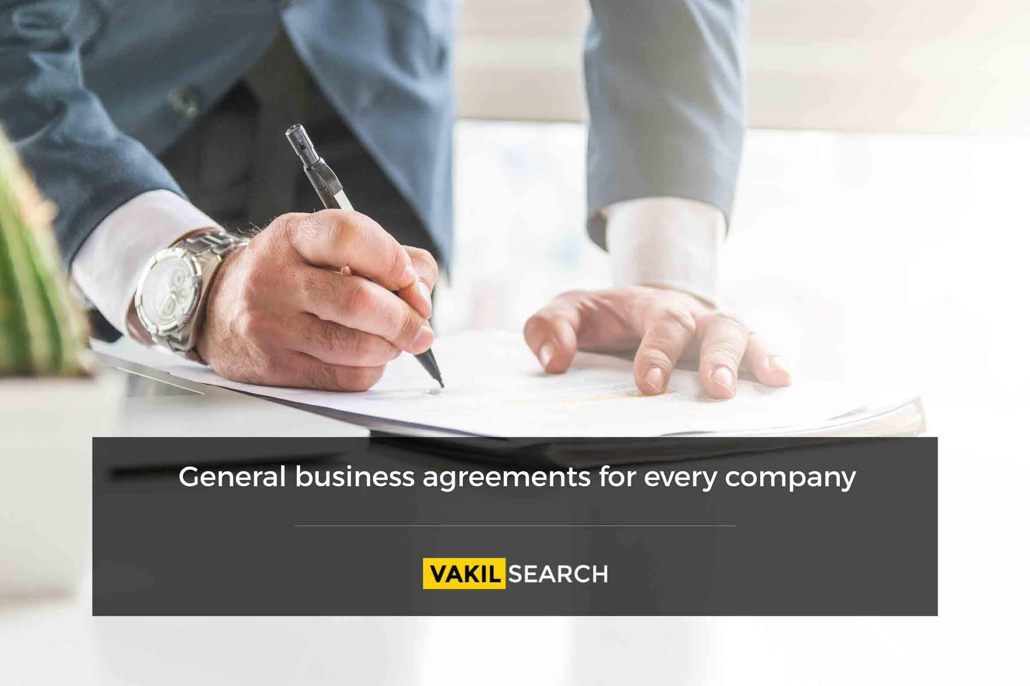 In the day-to-day functioning of an organization, there are various  agreements that are reached between the parties to a contract.