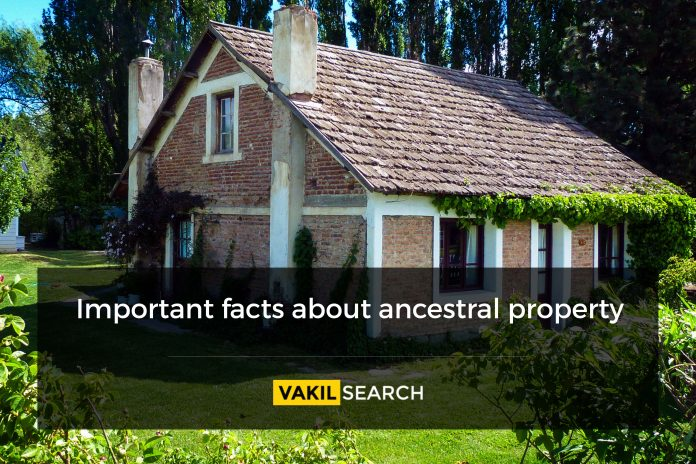 ancestral property or self-acquired property