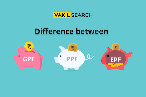 What is the difference between GPF, EPF and PPF?