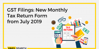 GST Filings New Monthly Tax Return Form From July 2019