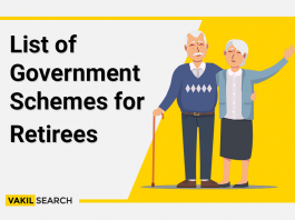 List of government schemes for retirees.