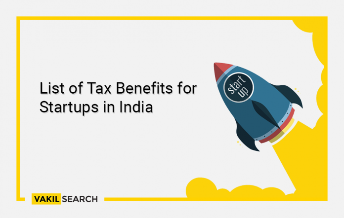 List of Tax Benefits for Startups in India