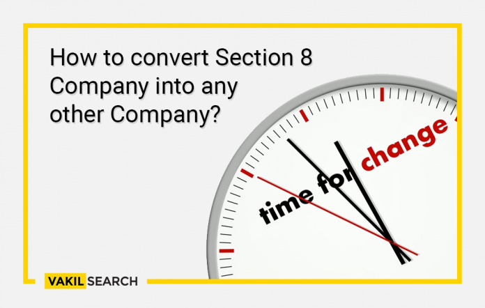 How to convert section 8 company into another company.