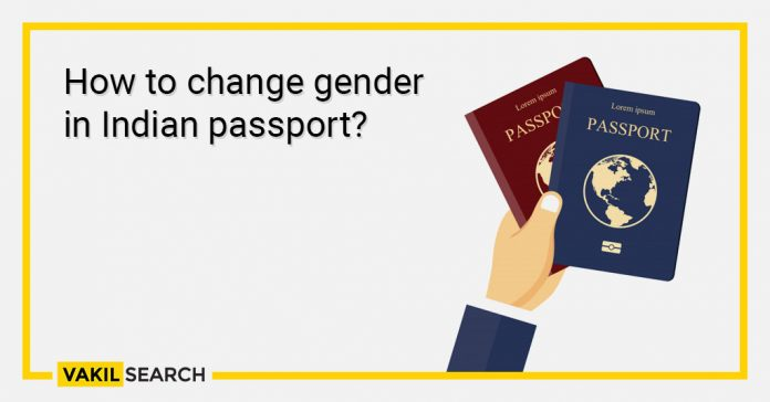 _How to change gender in Indian passport_