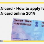 Lost PAN card - How to apply for Lost PAN card online 2019