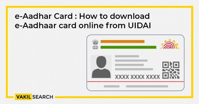 e-Aadhaar Card How to download eAadhaar card online from UIDAI