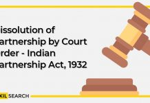 Dissolution of Partnership firm by Court Order - Indian Partnership Act, 1932