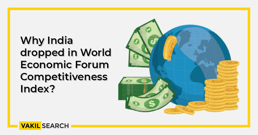 Why India dropped in World Economic Forum Competitiveness Index?