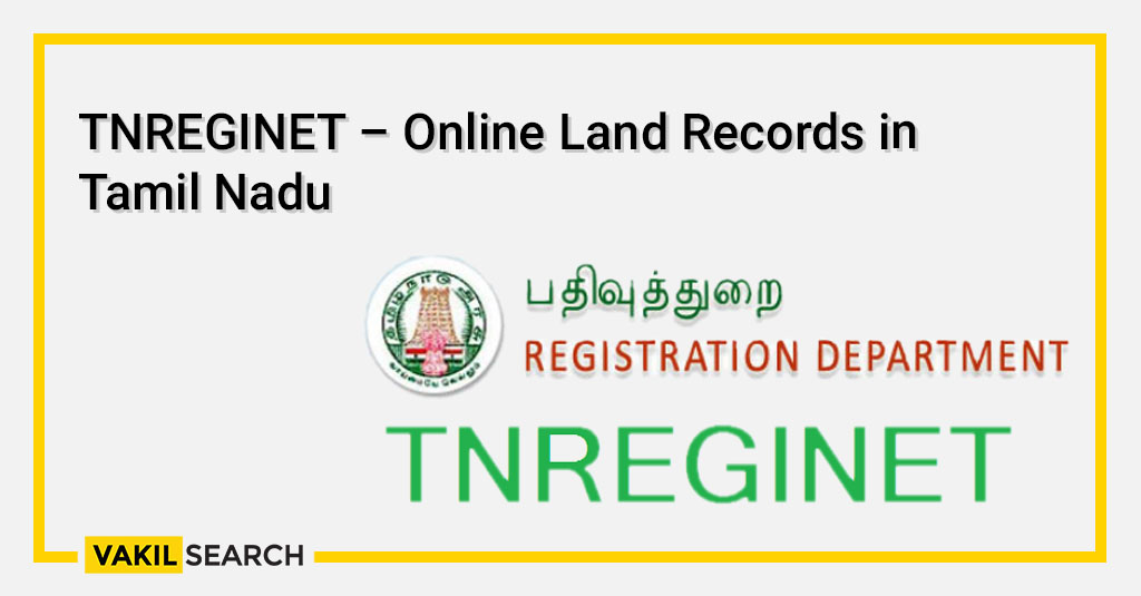 TNREGINET – Online Land Records in Tamil Nadu