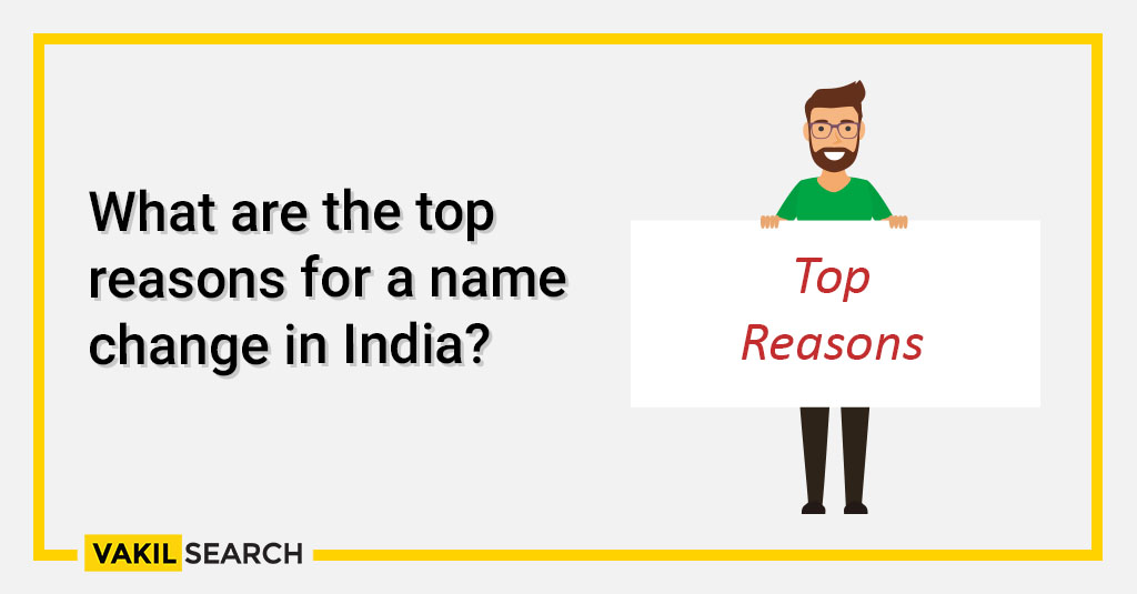 What are the top reasons for a name change in India_