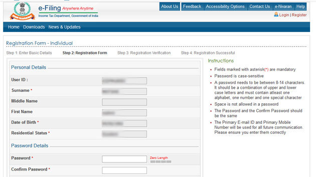 Income tax e-filing portal