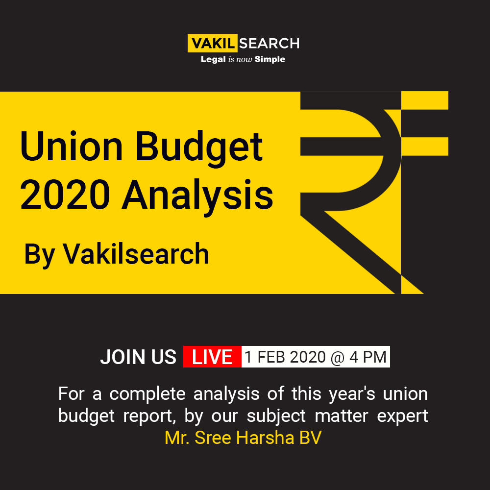 Union Budget 2020 Analysis By Vakilsearch