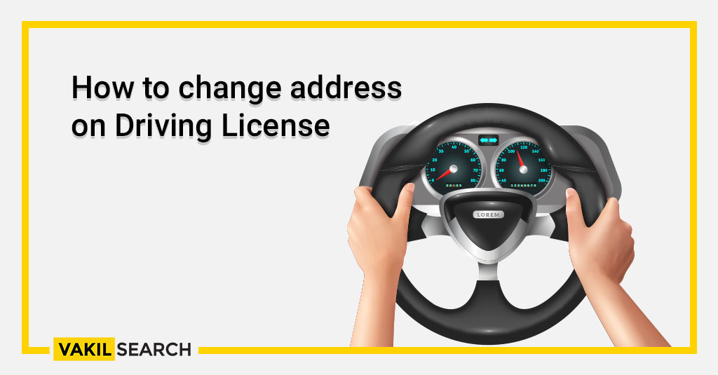 How to change address on Driving License online