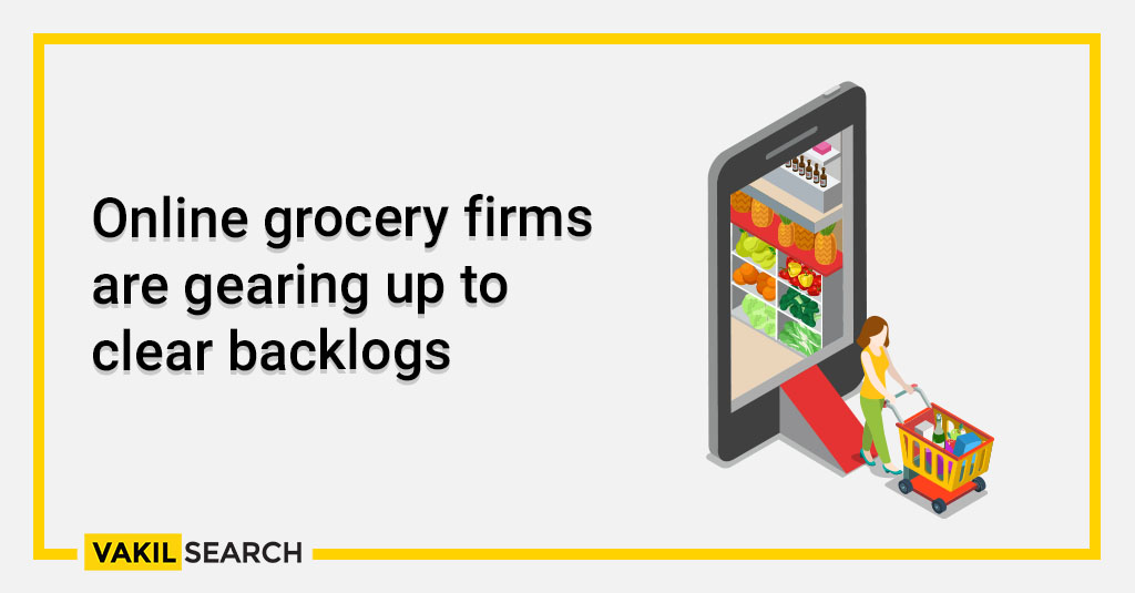 corona : Online grocery firms are gearing up to clear backlogs