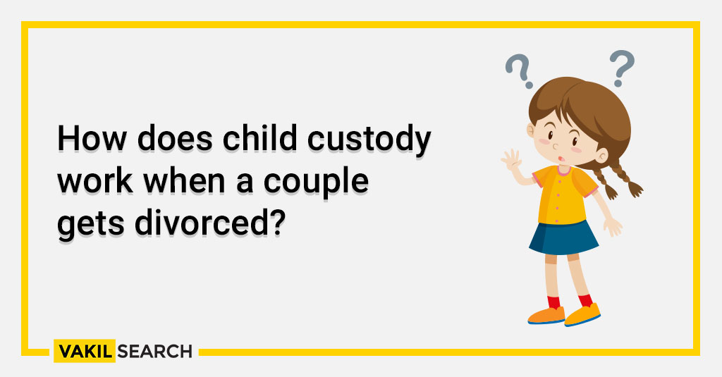 How does child custody work when a couple gets divorced_