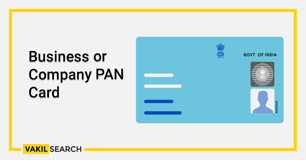 Business or Company PAN Card