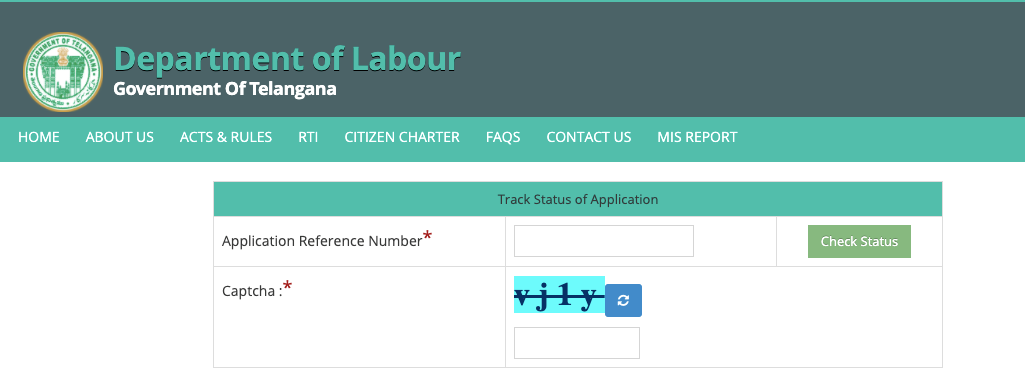 Enter your application reference number and Captcha and click on the show button
