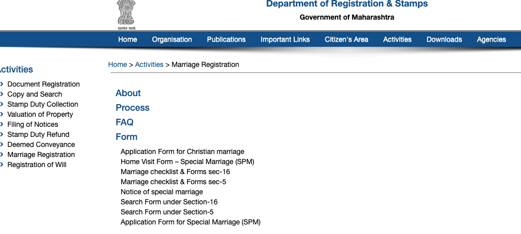 How to apply for Marriage Registration in Pune