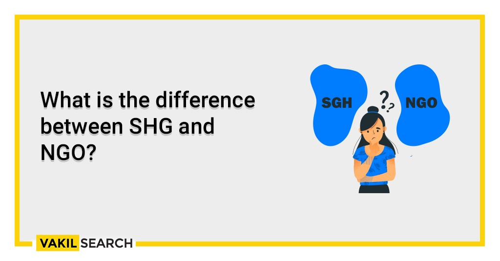 What is the difference between SHG and NGO