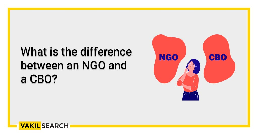 What is the difference between an NGO and a CBO