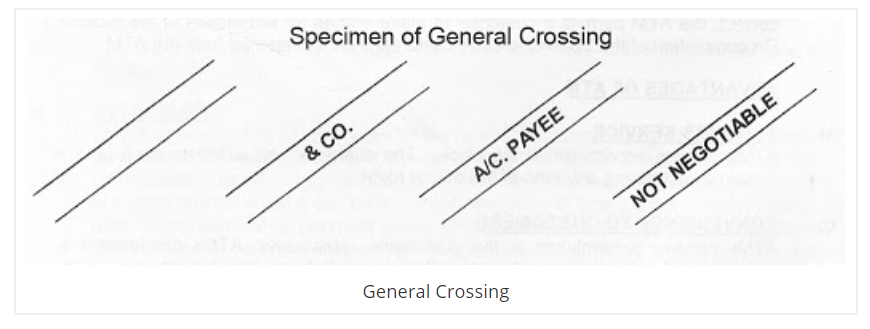 General cross cheque