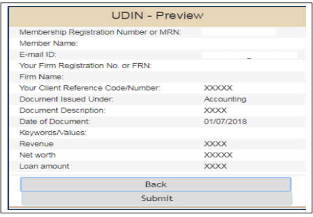 serial number by which the UDIN portal