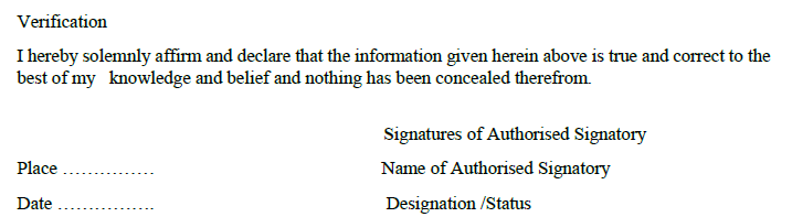 Finally, the gstr 5 return is verified by the authorised signatory.
