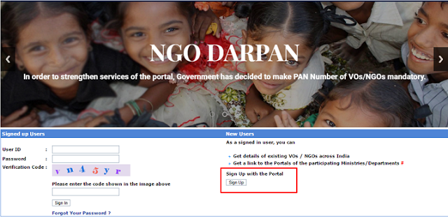 First and foremost, users must go to the NGO DARPAN's