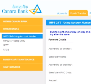 Now choose the 'Other Banks' option for this beneficiary and select the appropriate transfer option