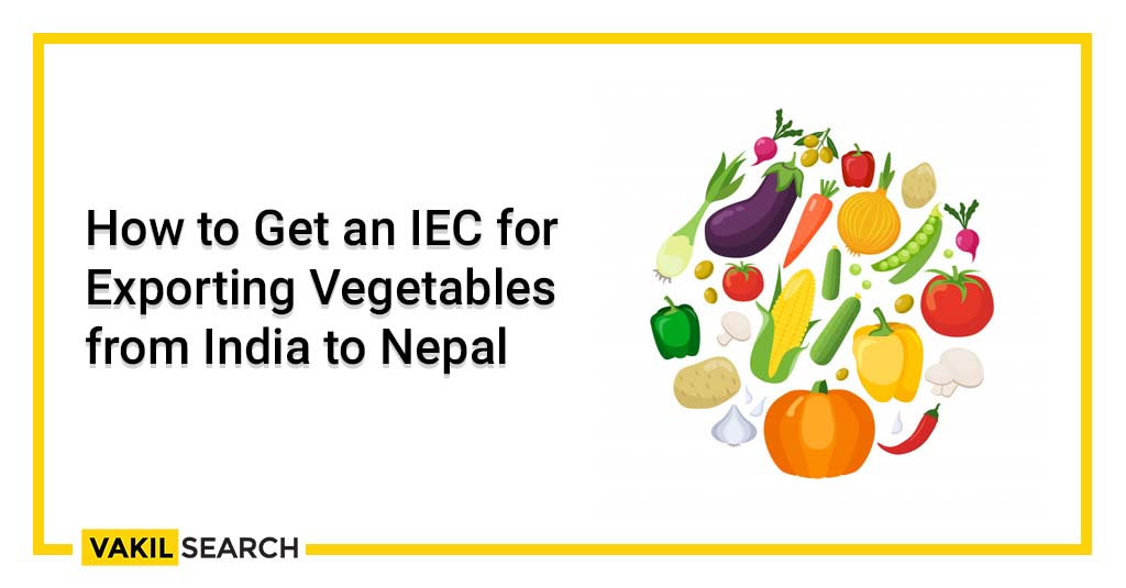 Import Export Code for Exporting Vegetables